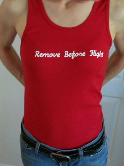 Remove Before Flight Tank Top - Free Shipping