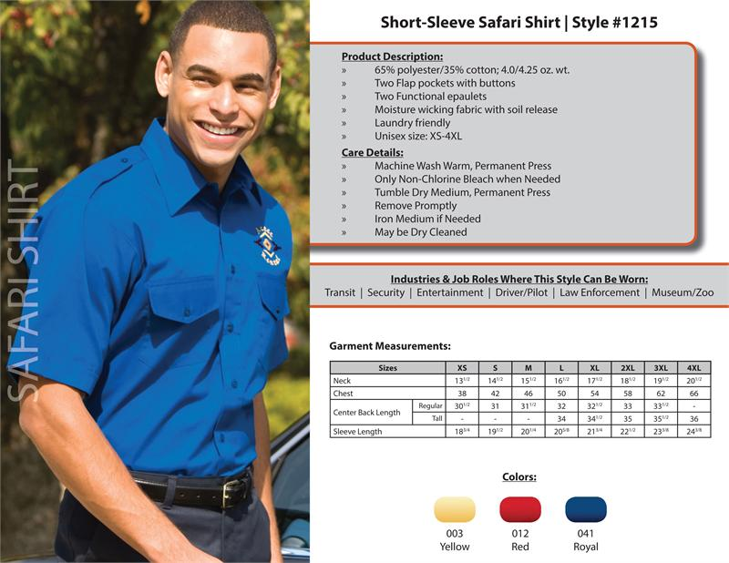 Edwards Pilot Shirts, Edwards Safari Shirts, Edwards Uniform Shirts