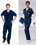Landau Unisex Scrubs Tops 7502 and Landau Unisex Scrubs Pants 7602