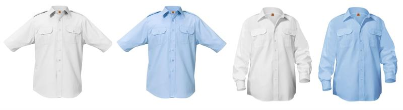 Pilot Shirts - Blue, White, Long and Short Sleeve Pilot Uniform Shirts