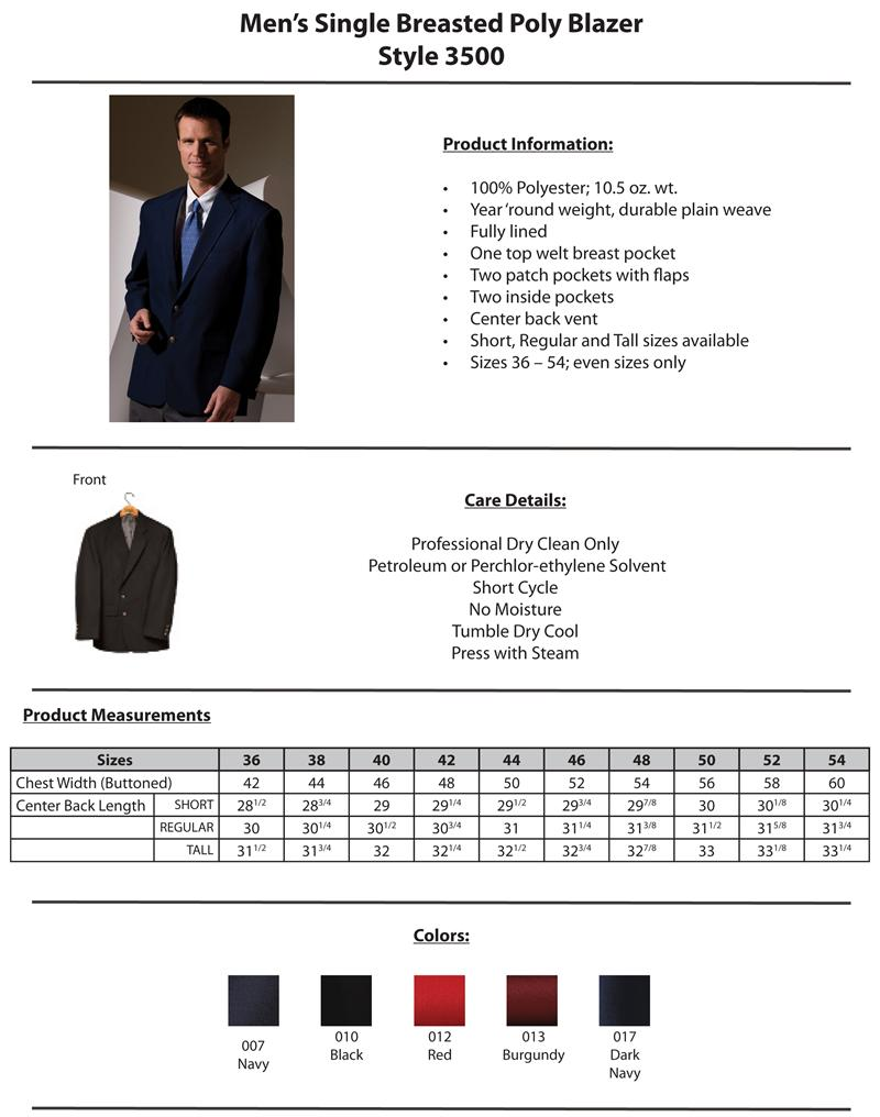 Edwards Uniform Value Blazers