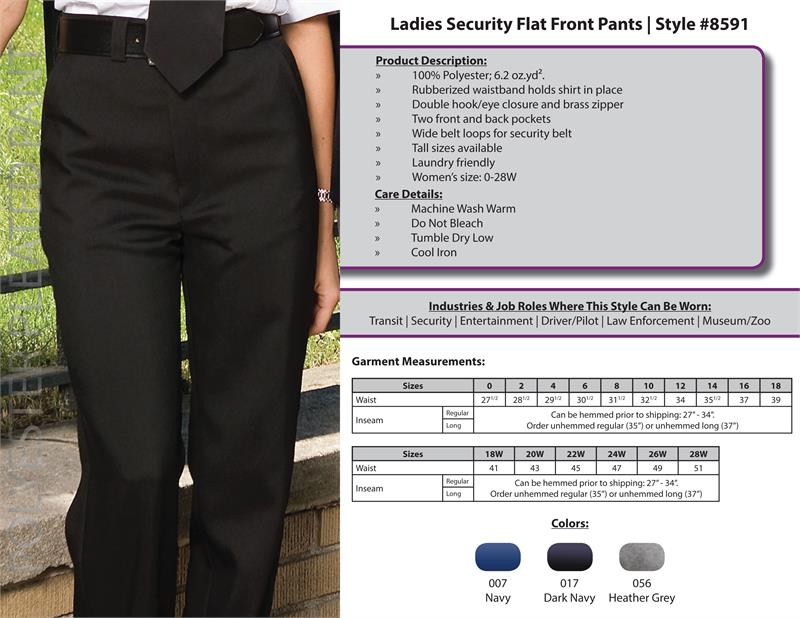 Edwards Womens Security Pants - 8591