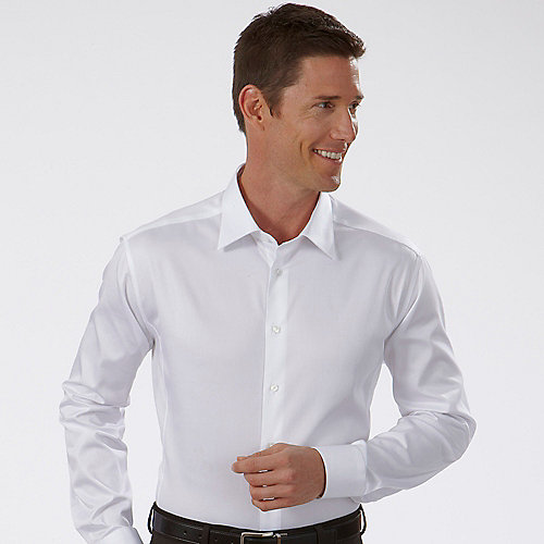 Fitted White Dress Shirt