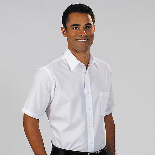 Van heusen dress shirts 13v0021 short sleeve mens cotton for Mens black short sleeve dress shirt