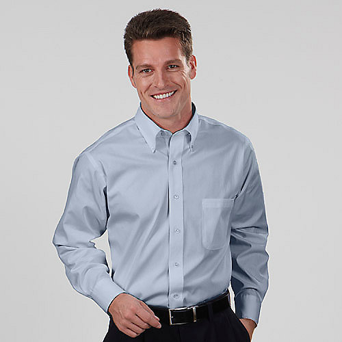 Van Heusen Dress Shirts 13v0031 Mens Blended Pinpoint
