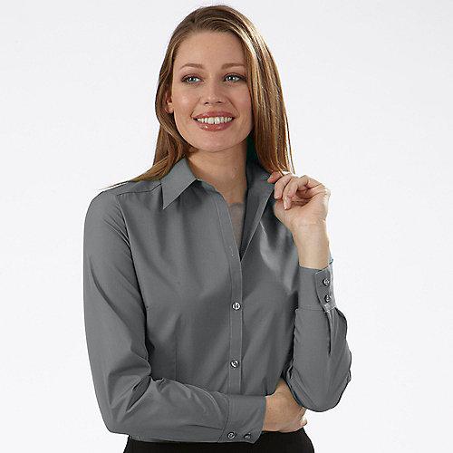 970e44c0b ... Slate - Van Heusen Womens Silky Poplin Long Sleeve Dress Shirts