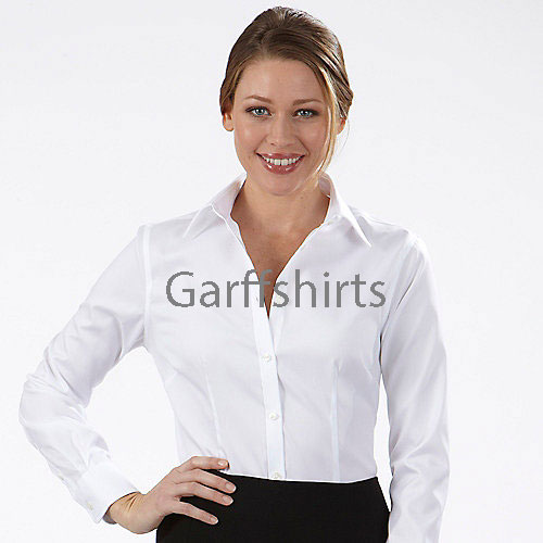 Womens eagle dress shirts 13v0124 100 cotton non iron for Ladies non iron shirts