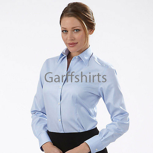 Womens Eagle Dress Shirts 13V0124 - 100% Cotton Non Iron Pinpoint ...