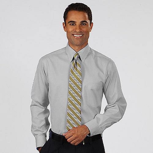 Van heusen dress shirts 13v0143 alpha sized men 39 s non iron for Mens pinpoint dress shirts