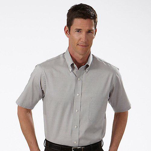 13v0206 van heusen mens pinpoint short sleeve tall dress