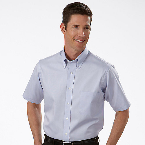 13v0206 Van Heusen Dress Shirts Mens Pinpoint Short Sleeve