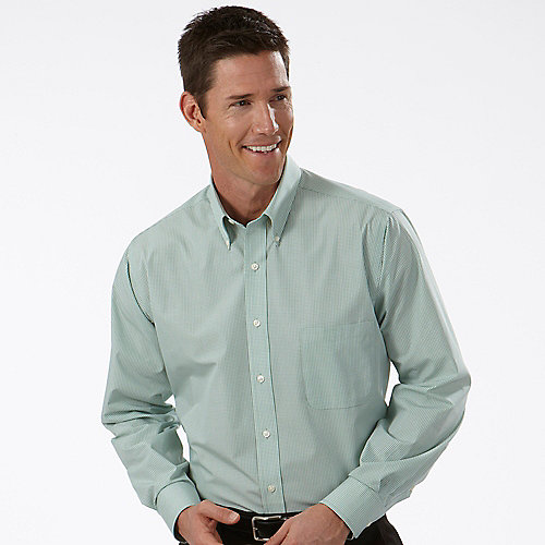 Van Heusen Mens Gingham Long Sleeve Dress Shirts