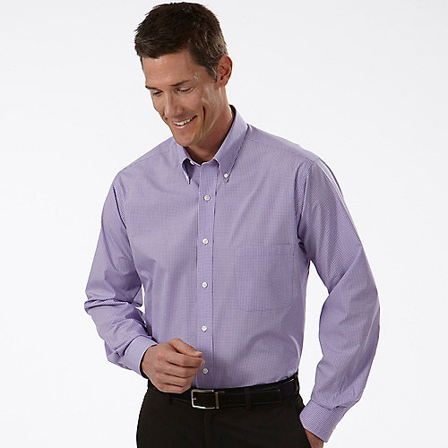 Van Heusen Dress Shirts Mens Gingham Long Sleeve Dress Shirts