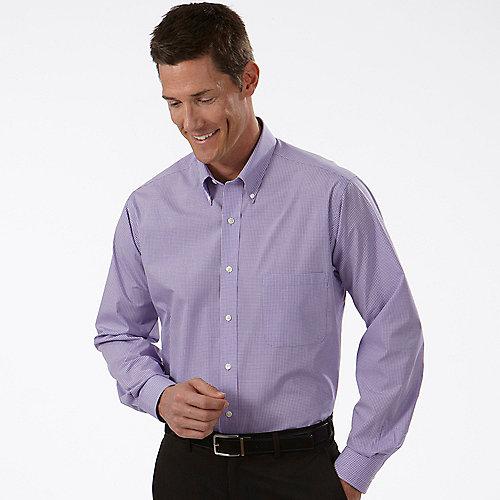Van heusen dress shirts mens gingham long sleeve dress shirts for Van heusen dress shirts