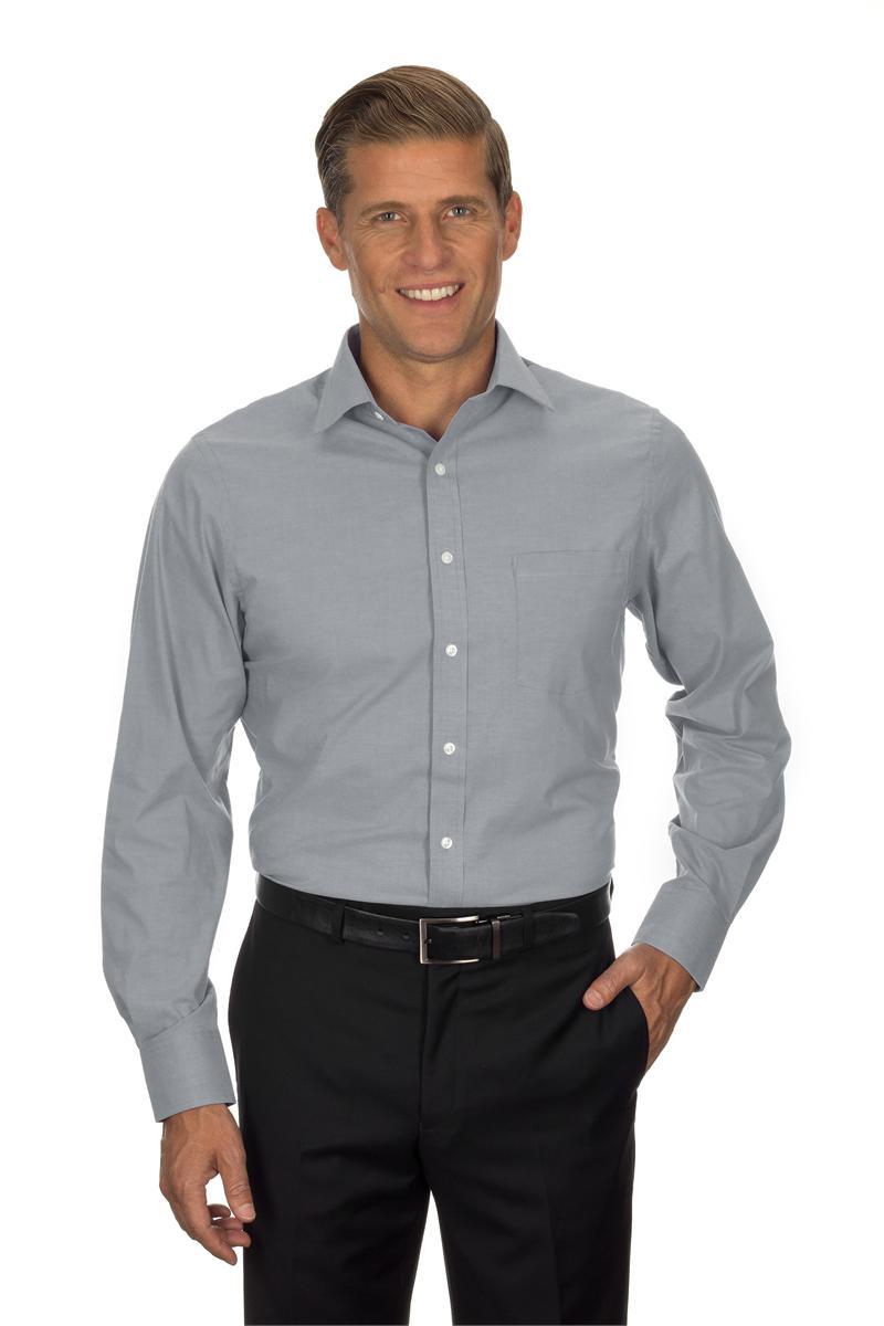 Van heusen men 39 s long sleeve pinpoint stretch dress shirts for Van heusen men s short sleeve dress shirts