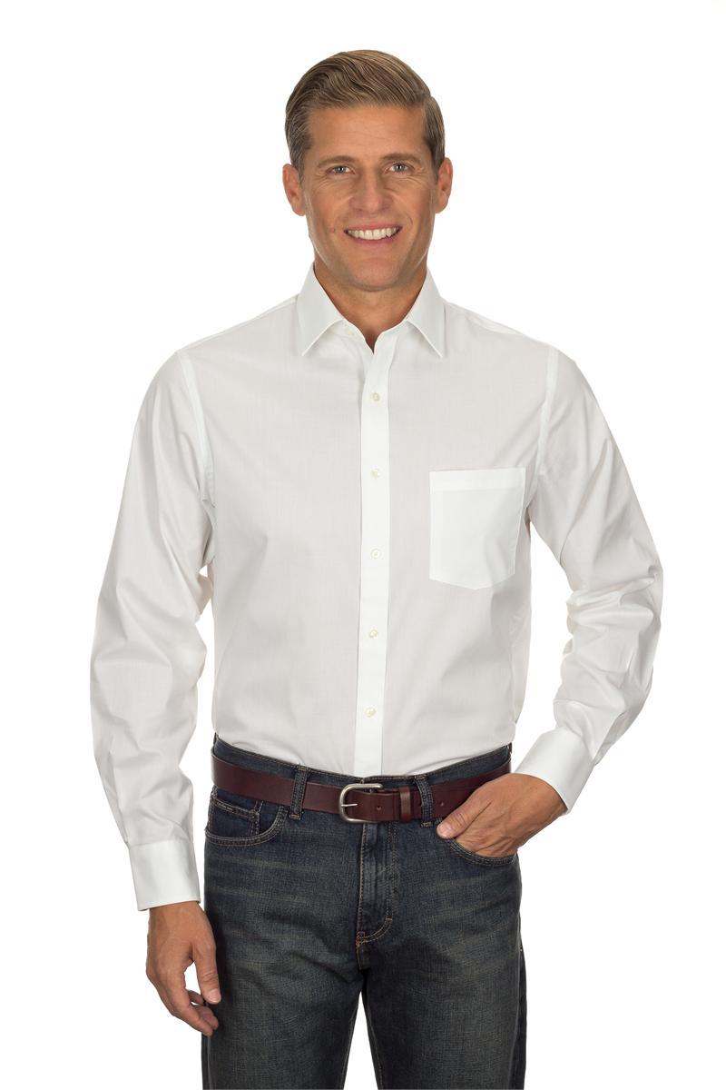 Van heusen men 39 s long sleeve pinpoint stretch dress shirts for Van heusen dress shirts