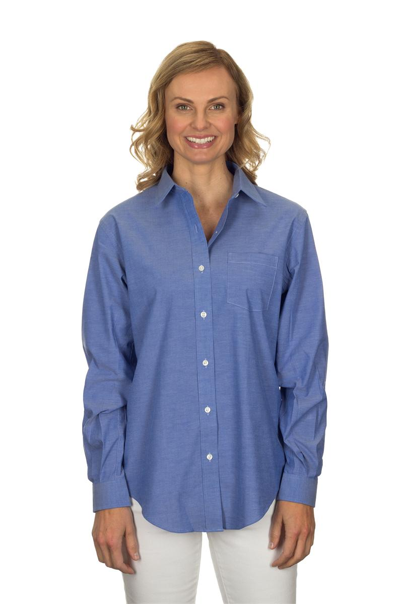 Van heusen womens 13v0238 long sleeve pinpoint stretch solid for Van heusen dress shirts