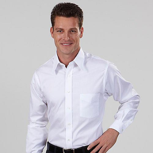 Van heusen dress shirts 13v0350 mens blended pinpoint for Mens oxford dress shirts