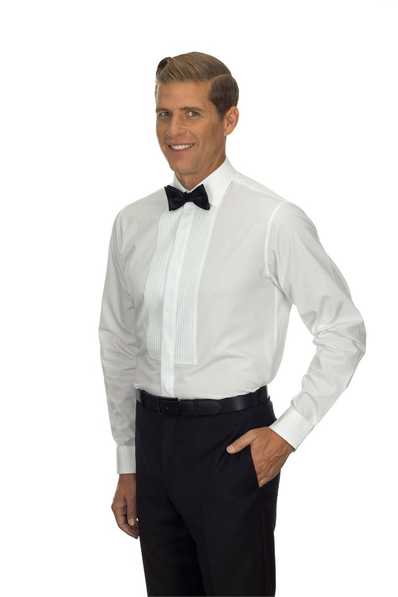 13v0374 van heusen tuxedo shirts mens spread collar formal