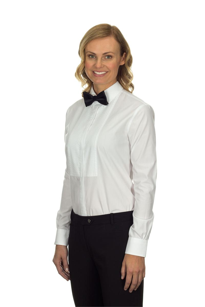 13v0375 van heusen tuxedo shirts womens spread collar