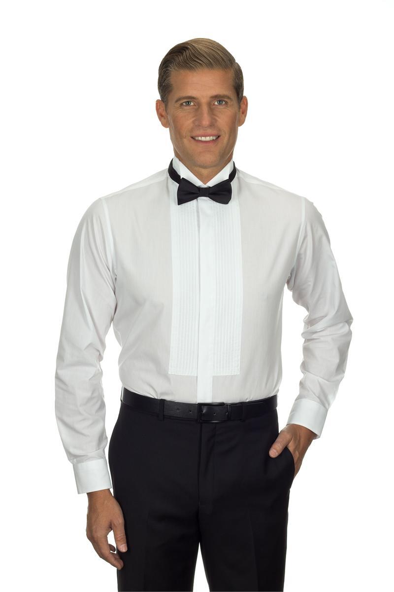 13v0376 van heusen tuxedo shirts mens wing collar formal for Tuxedo shirts for men