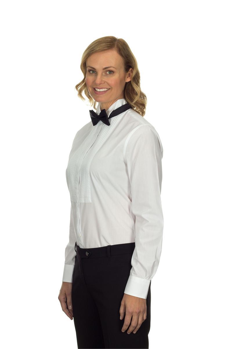 Van heusen womens wing collar formal shirts 13v0377 for Tuxedo shirt vs dress shirt