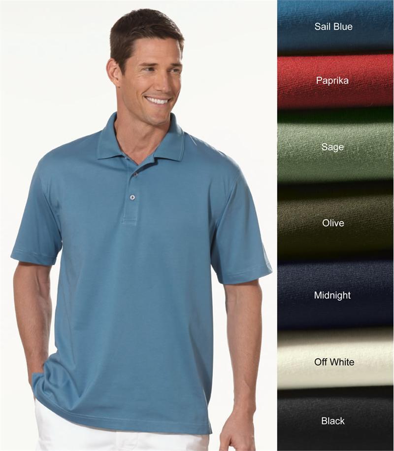 Izod polo shirts 13z0062 izod mens pima cool knit for Men s performance polo shirts