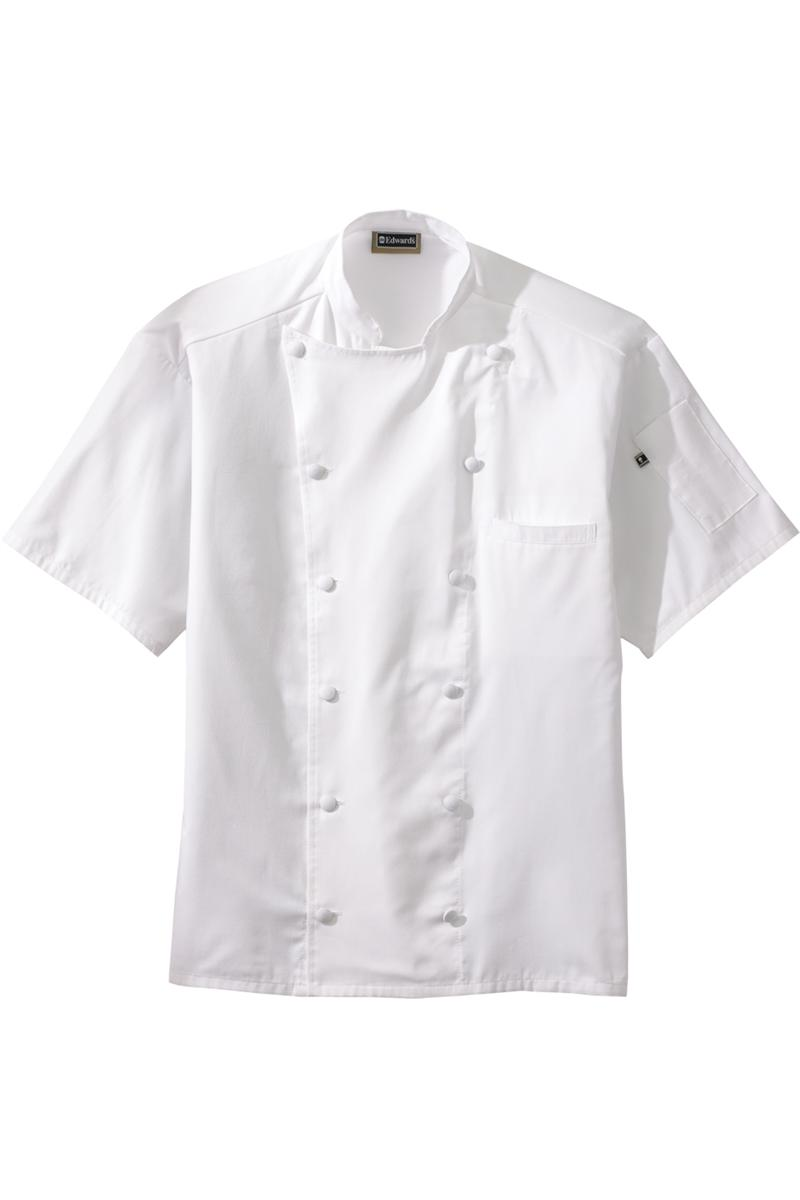 Edwards Mid Weight Back Mesh Classic Unisex Chef Coat 12