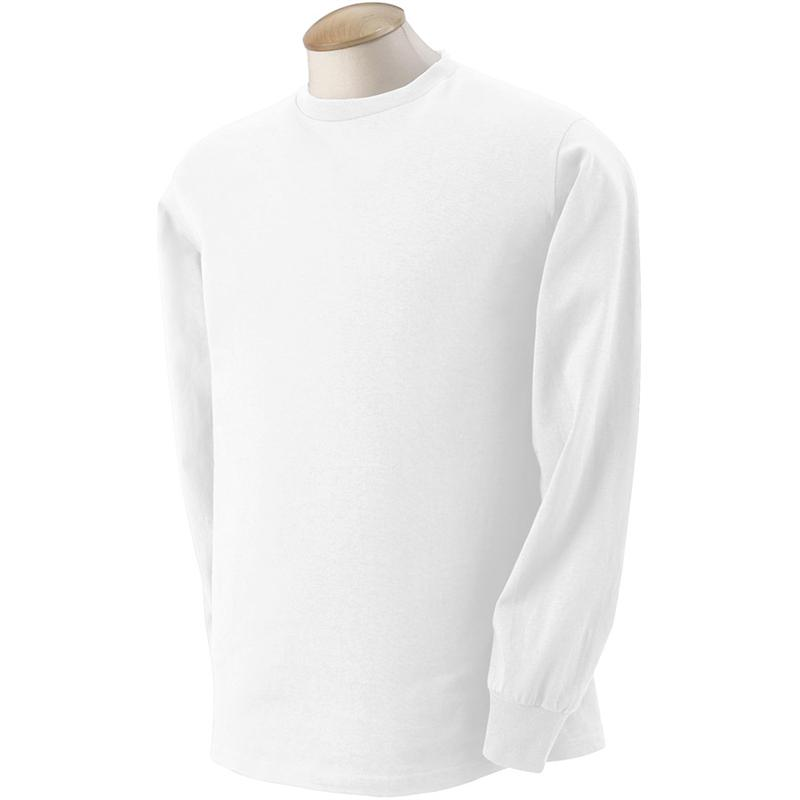 4930 Fruit of the Loom White Long Sleeve T-Shirts 4930 - 5 oz 100 ...