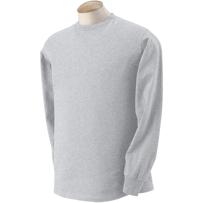 4930 fruit of the loom ash long sleeve t shirts 4930 5 for Long sleeve 100 cotton shirts