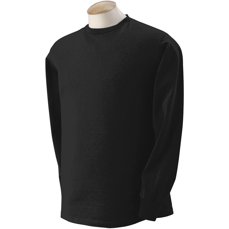 4930 Fruit of the Loom Black Long Sleeve T-Shirts 4930 - 5 oz 100 ...
