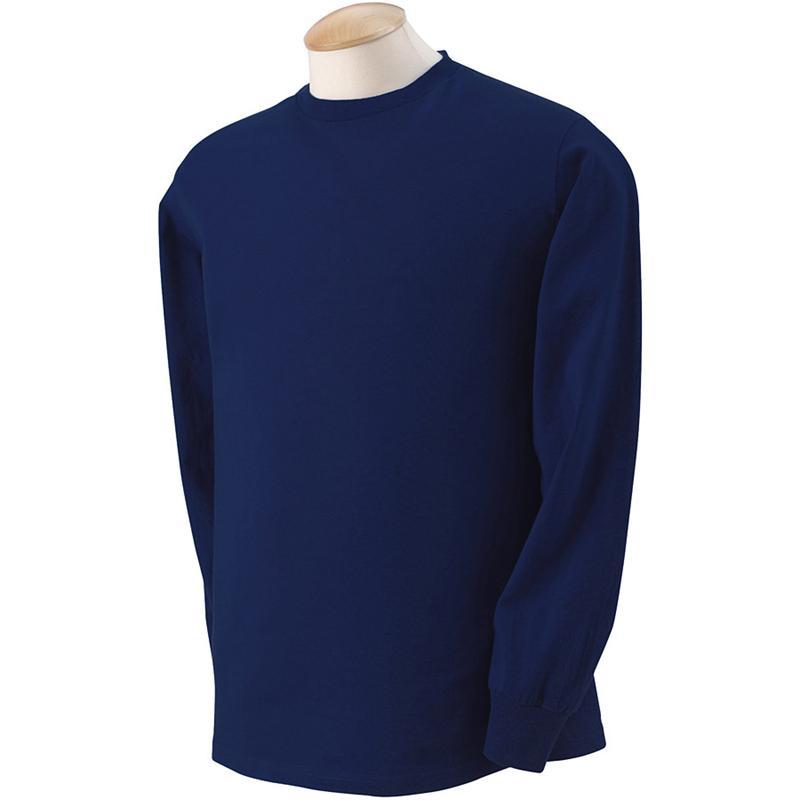 Long Sleeve Navy Blue T Shirt