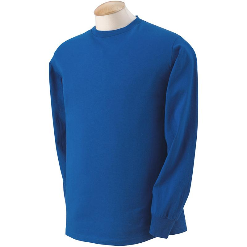 4930 Fruit of the Loom Royal Blue Long Sleeve T-Shirts 4930 - 5 oz ...