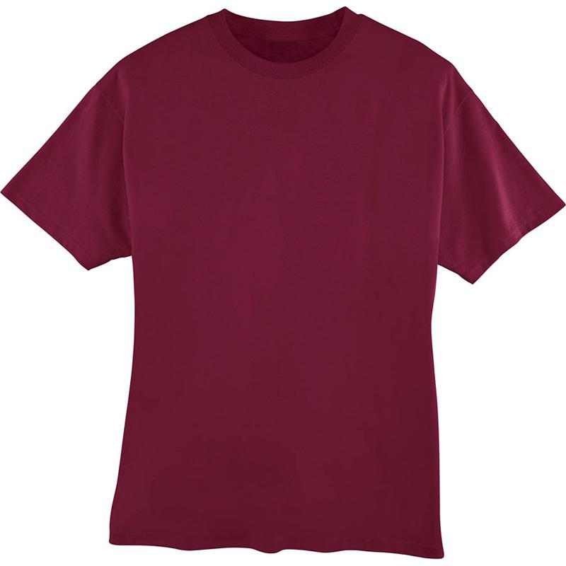 5180 hanes 6 1 oz cotton beefy t tee shirts for Cardinal color t shirts