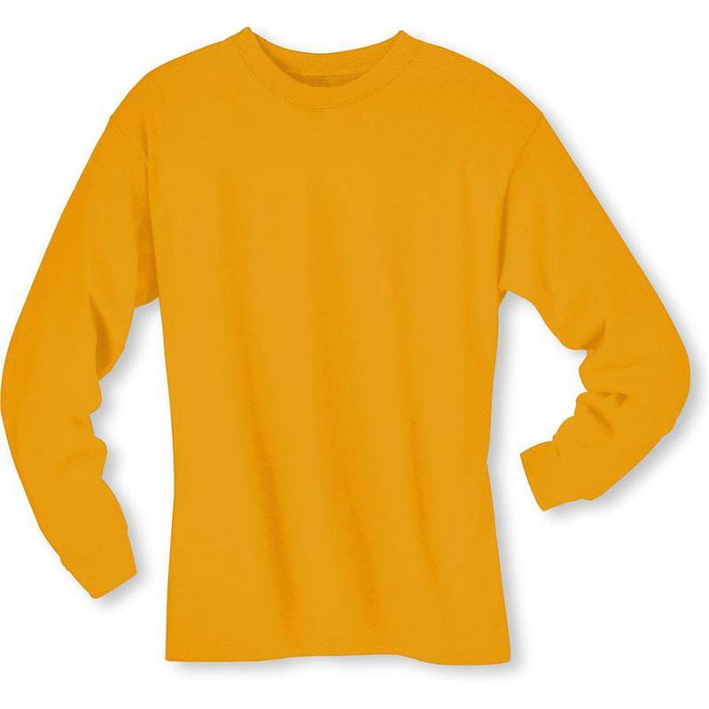 Hanes 5186 6.1 oz Cotton Long Sleeve BEEFY-T Tee Shirts
