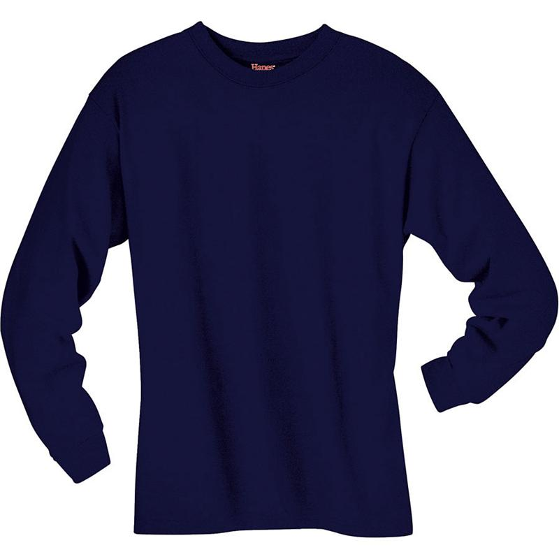 Dark blue long sleeve shirt is shirt for Blue and white long sleeve shirt