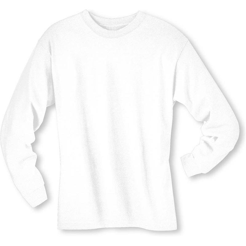 Hanes 5186 6.1 oz Cotton Long Sleeve BEEFY-T Tee Shirts