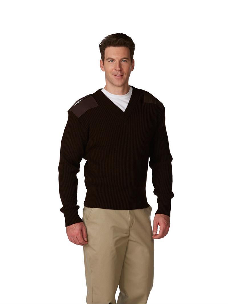 5953 Commando Uniform Sweater Unisex 2x2 Heavy Rib V-Neck