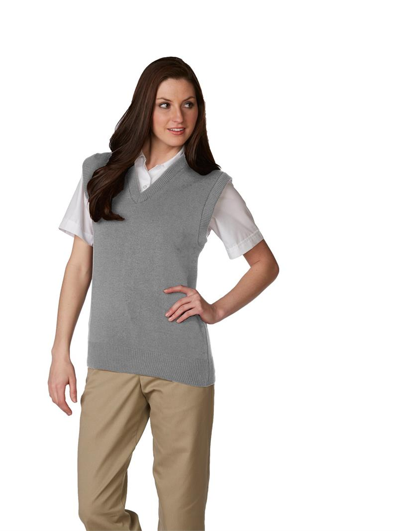 Unisex V-Neck Pullover Sweater Vest - 6600 A  by SAI