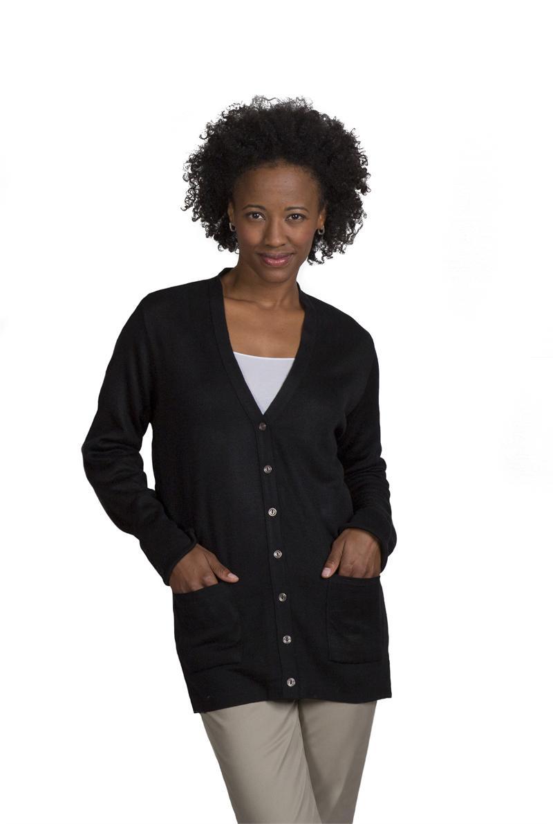 5e5d51ebbd 4915 Womens Tunic V-Neck Cardigan Flight Crew Uniform Sweaters