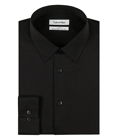 Calvin klein steel non iron dress shirts slim fit 33k2479 for No iron slim fit dress shirts