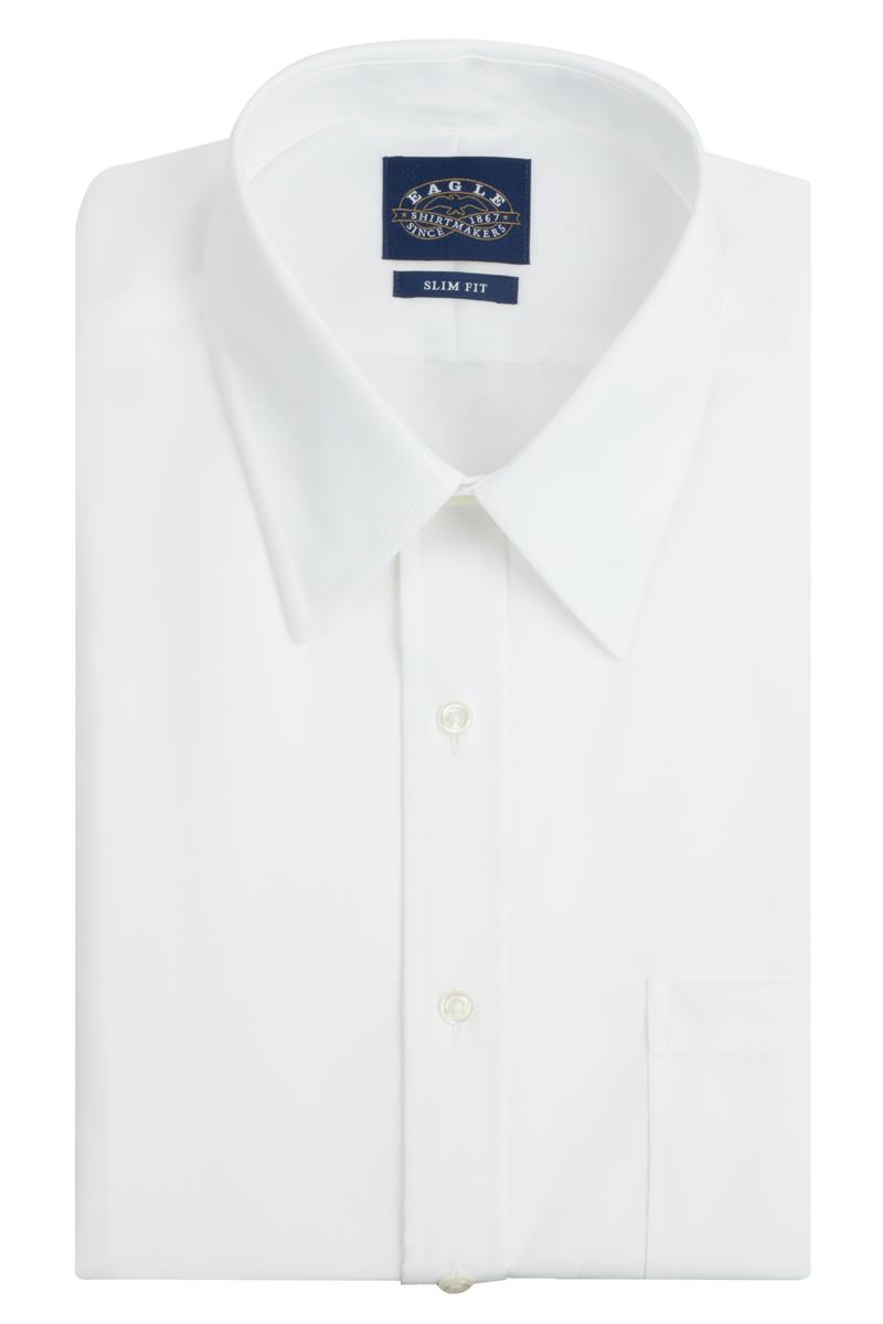 Eagle Slim Fit Non Iron Pinpoint Point Collar Dress Shirts