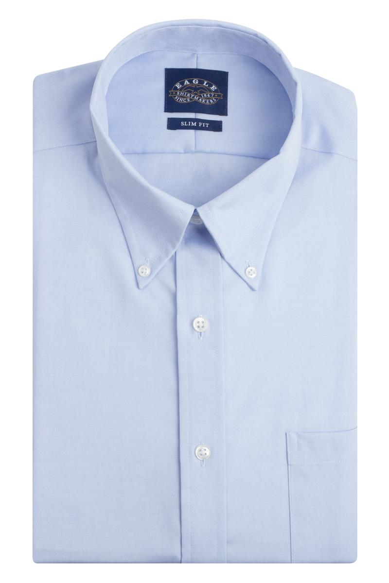 Eagle Slim Fit Non Iron Pinpoint Button Down Collar Dress Shirts