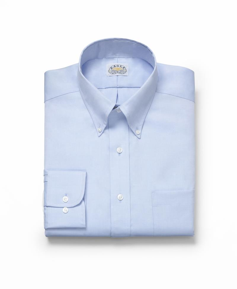 Eagle slim fit non iron pinpoint button down collar dress for No iron slim fit dress shirts