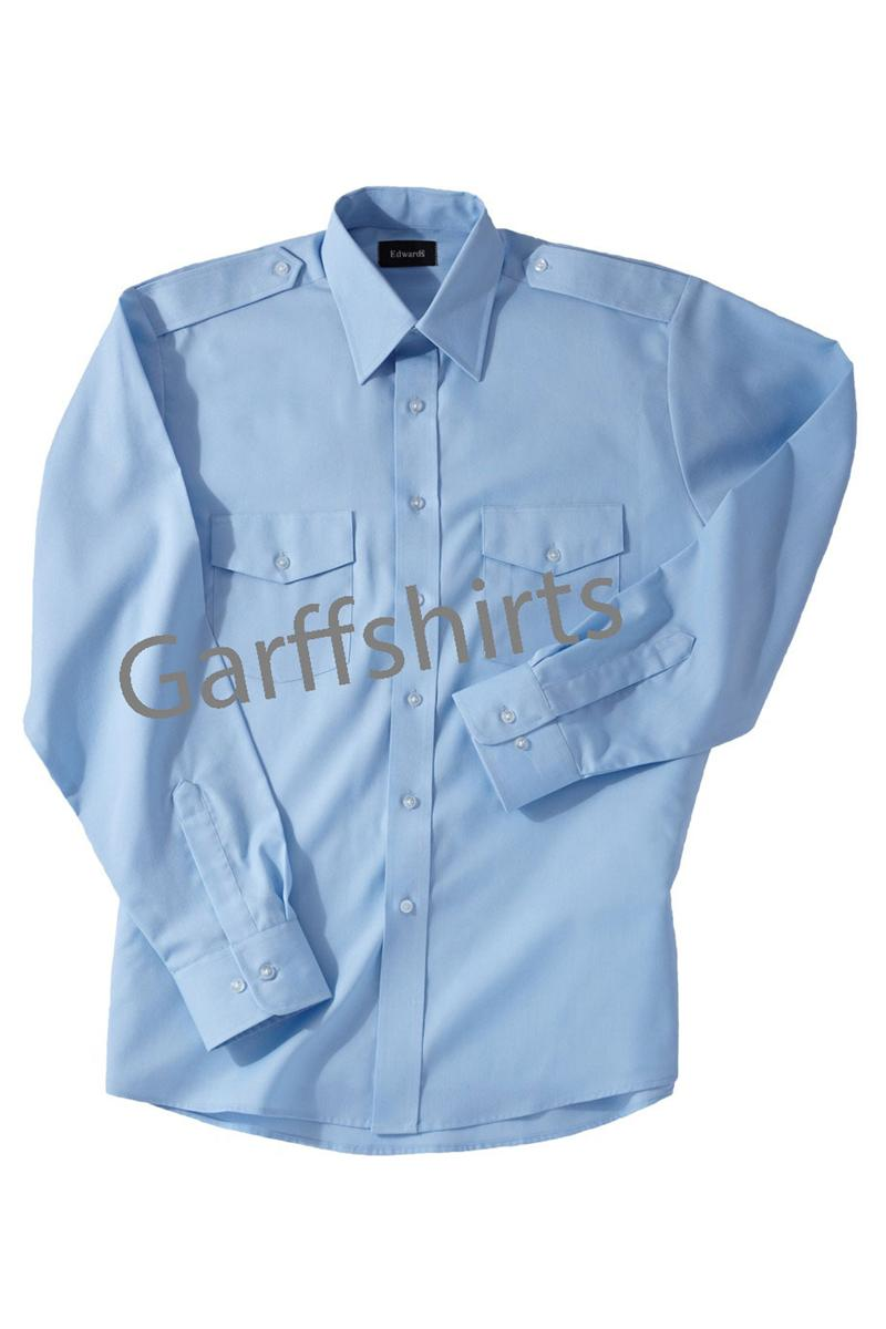 Blue pilot shirts for men for Uniform shirts for men
