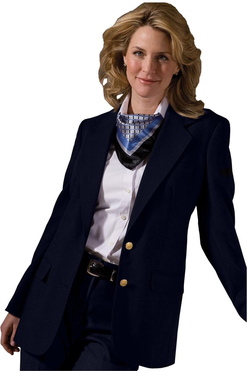 JCP adorable 3/4 sleeve navy blue blazer with white piping along the edges and anchors on the buttons size petite medium. Extra button included on the tag and pleats are still sewn shut at the back. P.