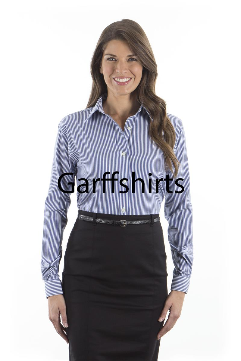 Van heusen ladies striped long sleeve dress shirt 13v0396 for Van heusen dress shirts