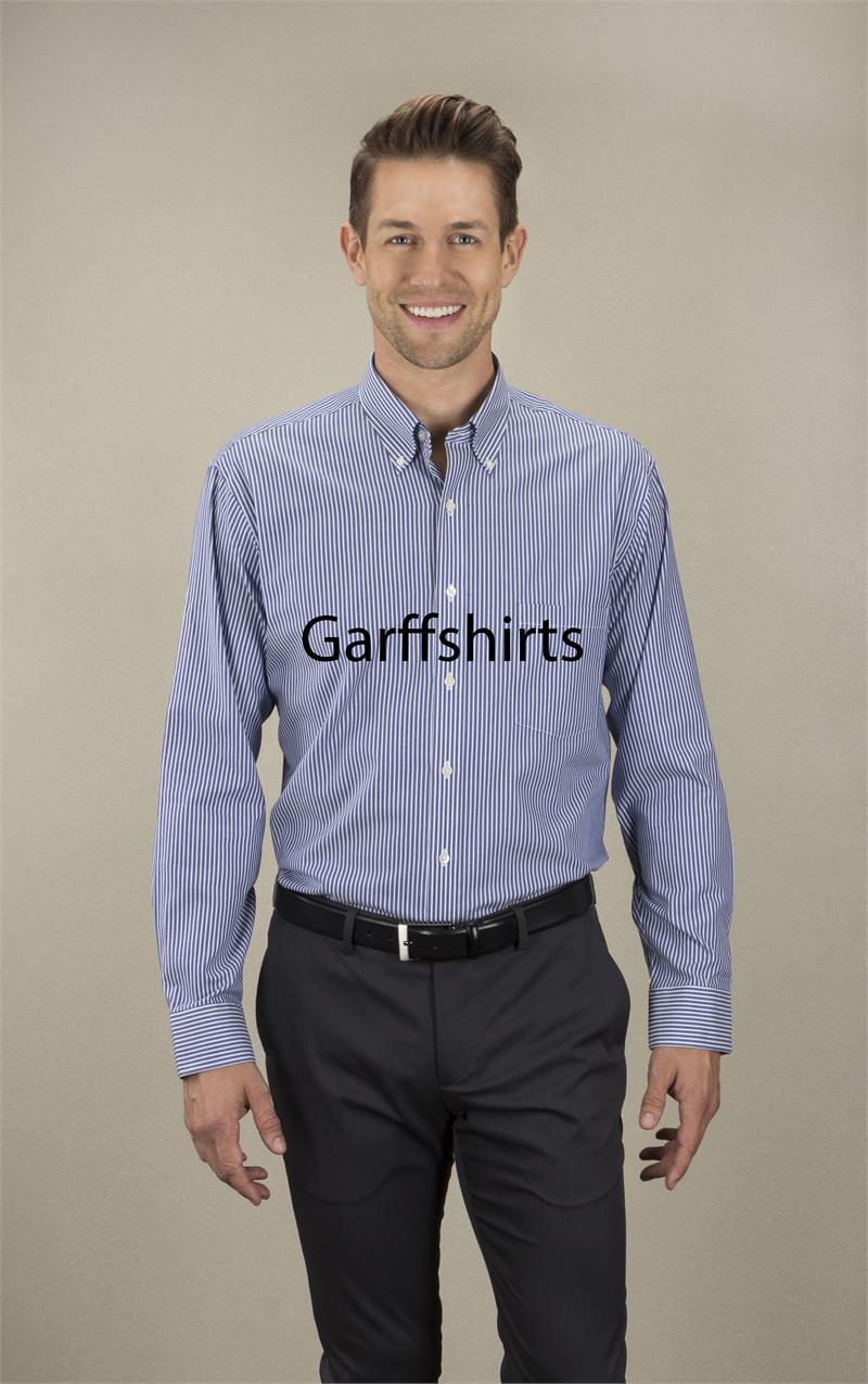 Van heusen mens striped long sleeve dress shirt 13v0400 for Van heusen dress shirts