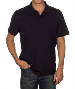 Black - 13CK001 Calvin Klein Mens Liquid Cotton Solid Polo Shirts