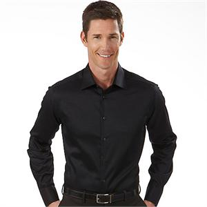 Black - 13CK023 Calvin Klein Fitted Dress Shirts Mens Dress Shirtk
